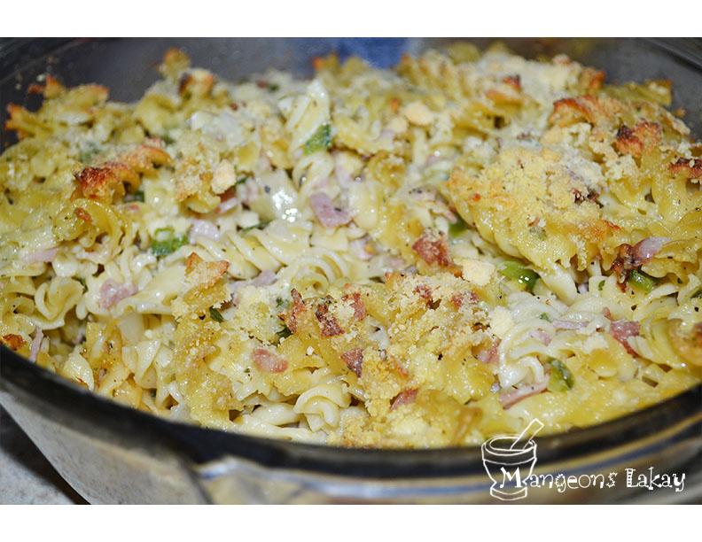 Macaroni au gratin (Baked Macaroni) | Mangeons LAKAY